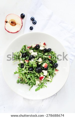 fresh spring salad - stock photo