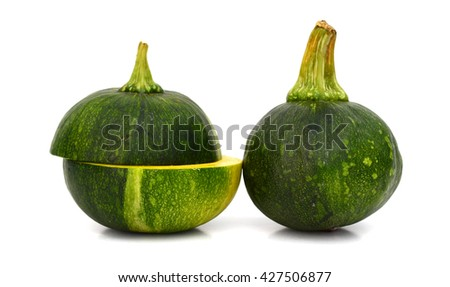 fresh squash isolated on white