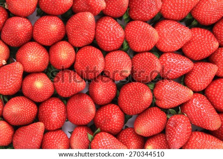 fresh strawberries as very nice natural food backgeound - stock photo