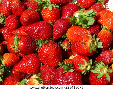 Fresh strawberries at the market