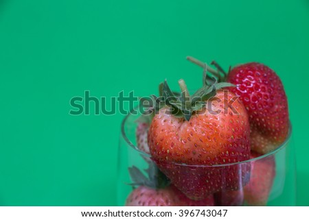 Fresh strawberries.close-up,depth of field.