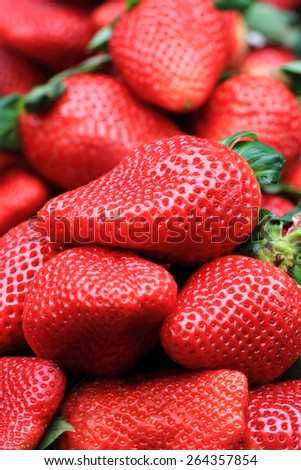 fresh strawberries fruits as nice natural  background - stock photo