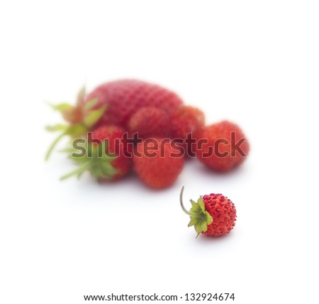 Fresh Strawberries Isolated on white