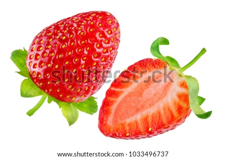 Fresh strawberries on a white background. toning. selective focus