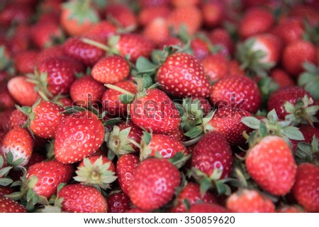 Fresh Strawberry Background ,focus center