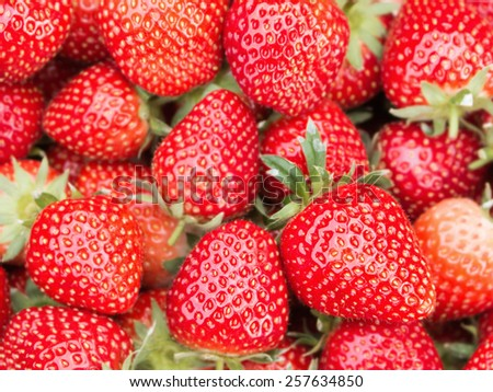 fresh strawberry for background - stock photo