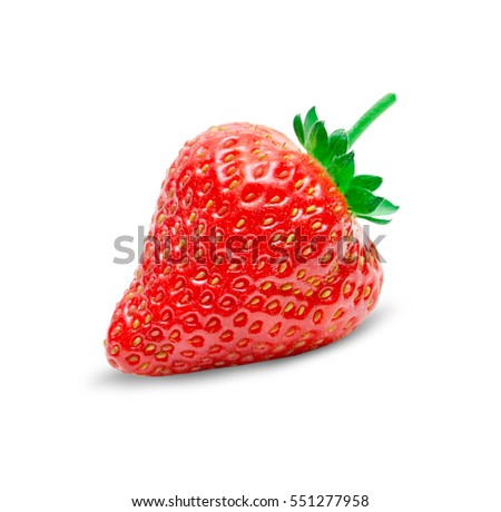 Fresh strawberry fruit isolated on white background