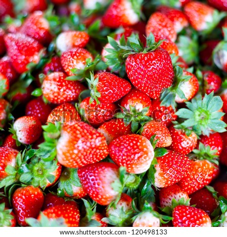 Fresh strawberry in market.