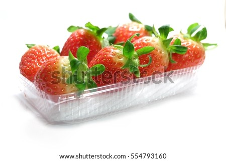 Fresh strawberry in Package