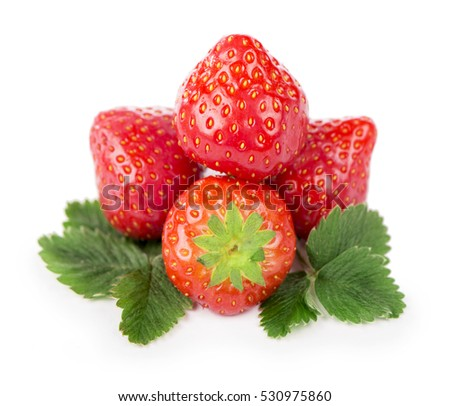 Fresh strawberry isolated on the white
