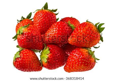 Fresh strawberry of the organic farming - stock photo