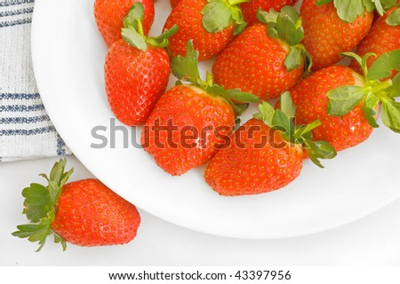 fresh strawberry on a plate