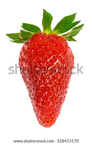 fresh strawberry on a white background - stock photo