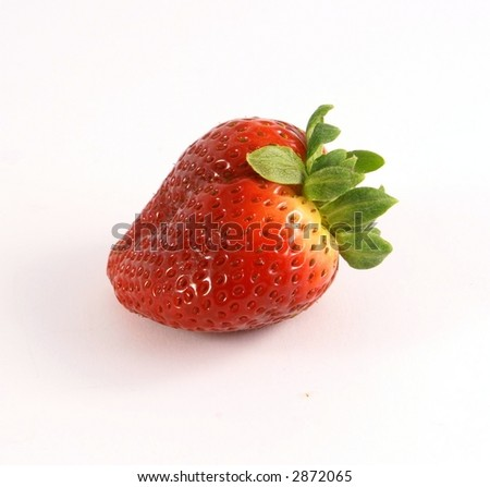 fresh strawberry on side view - stock photo