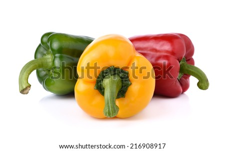 Fresh sweet pepper isolated on white background