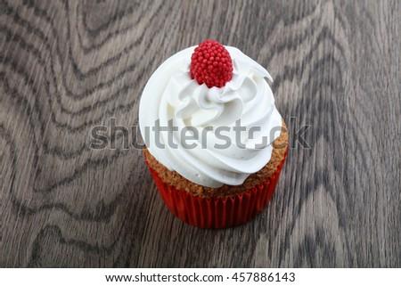 Fresh sweet shugary Cupcake with cream