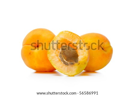 Fresh tasty apricot isolated on white