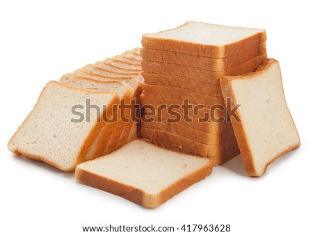 Fresh toast bread on the table isolated. - stock photo