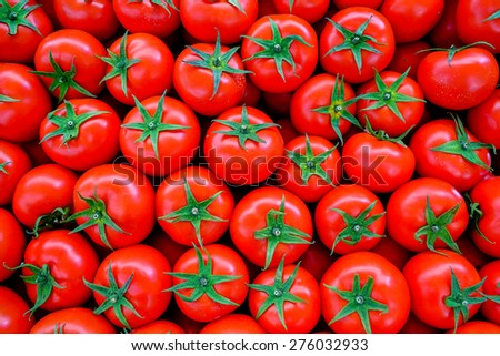 Fresh tomato background