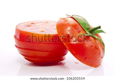 Fresh Tomato Slices - stock photo
