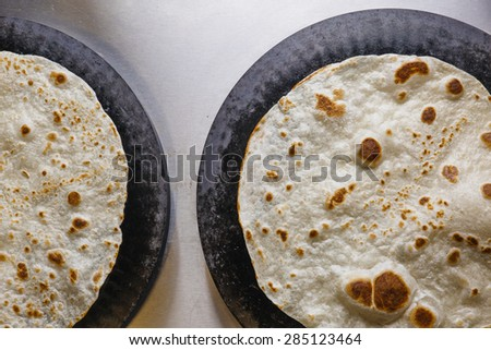 Fresh Tortilla - stock photo