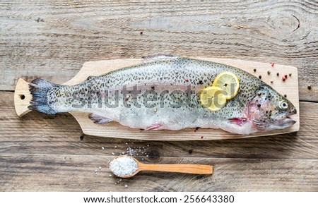 Fresh trout - stock photo