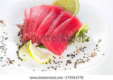 Fresh tuna fillet - stock photo