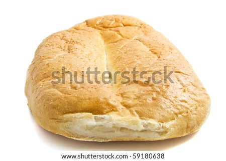 Fresh turkish big bread isolated over white