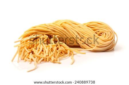 fresh uncooked homemade pasta  - stock photo