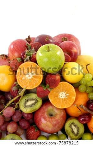 Fresh various fruits - stock photo