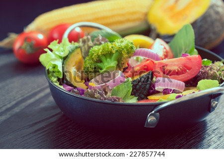 Fresh vegetable salad,healthy food