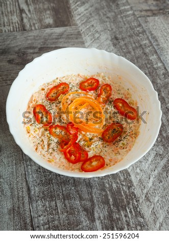 Fresh vegetable vitamin salad - stock photo