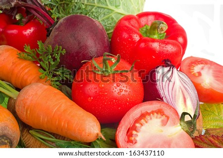 Fresh vegetables.