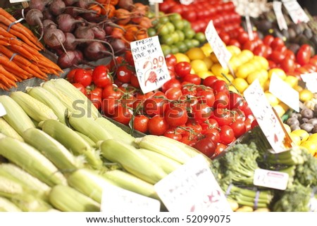 Fresh vegetables at the market.