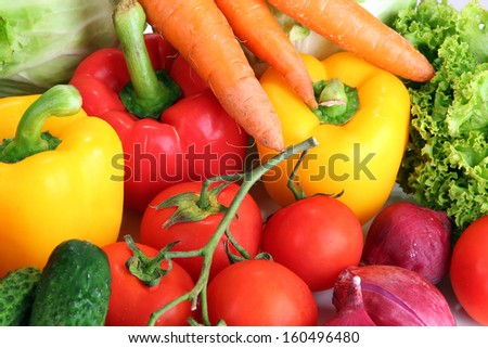 Fresh vegetables close up - stock photo