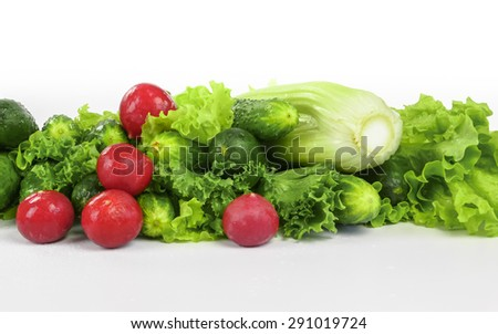 fresh vegetables for healthy eating - stock photo