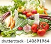 Fresh Vegetables in a Box - stock photo