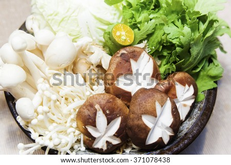 fresh vegetables in the pot - stock photo