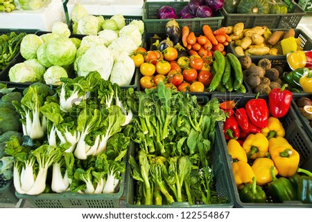 Fresh vegetables market, thai