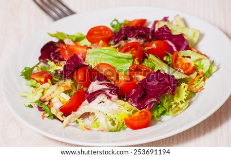 fresh vegetables salad