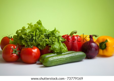 fresh vegetables still life - stock photo