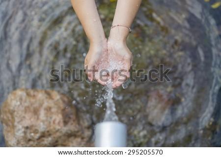 Fresh water. - stock photo