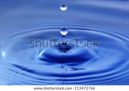 fresh water droplet