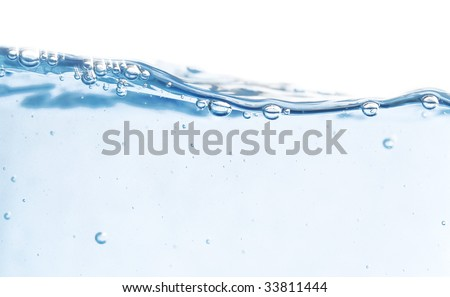fresh water isolated on white (series) - stock photo