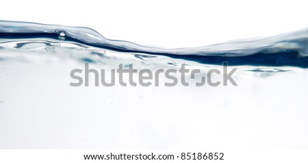 fresh water with bubbles - stock photo