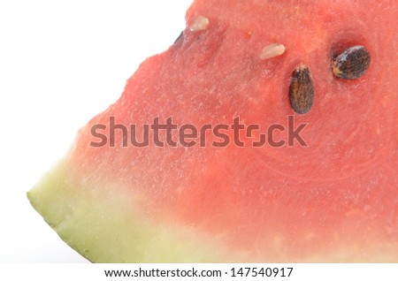 Fresh watermelon isolated on white background