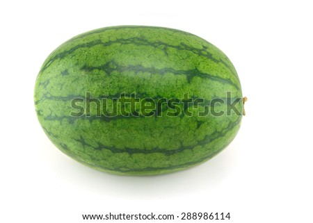 fresh watermelon on white background - stock photo