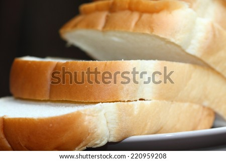fresh white loaf of bread - stock photo