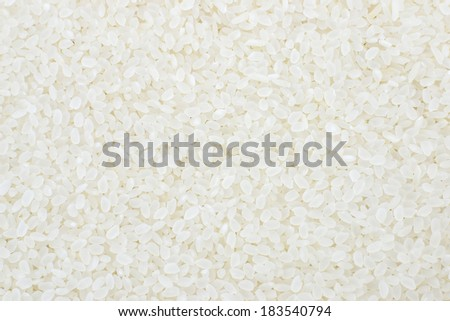 fresh white rice for background