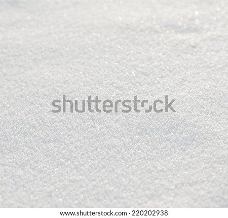 fresh white snow background  - stock photo
